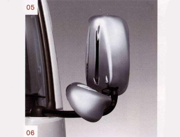 『NT450アトラス』 純正 FBA5W メッキミラーカバー 標準アンダーミラー用 左右セット(写真上部) パーツ 日産純正部品 ドアミラーカバー サイドミラーカバー カスタム オプション アクセサリー 用品