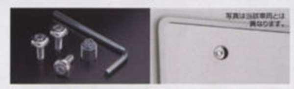 エルグランド 純正 PE52 TE52 PNE52 TNE52 マックガードナンバープレートロックボルト ロックボルト3本:キー付 ZZL6A ELGRAND セキュリティー オプション 盗難防止 アクセサリー 店内限界値引き中&セルフラッピング無料 パーツ 用品 日産純正部品 限定特価
