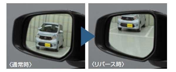 『デイズ ルークス』 純正 B21A リバース連動下向きドアミラー(助手席側) パーツ 日産純正部品 オプション アクセサリー 用品