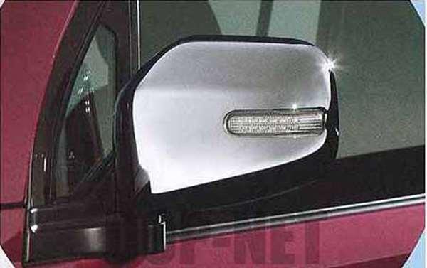 『トッポ』 純正 H82A メッキミラーカバー(ターンシグナルランプ付) パーツ 三菱純正部品 ドアミラーカバー サイドミラーカバー カスタム Toppo オプション アクセサリー 用品