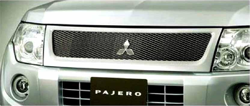 『パジェロ』 純正 V83W メッシュグリル パーツ 三菱純正部品 PAJERO オプション アクセサリー 用品