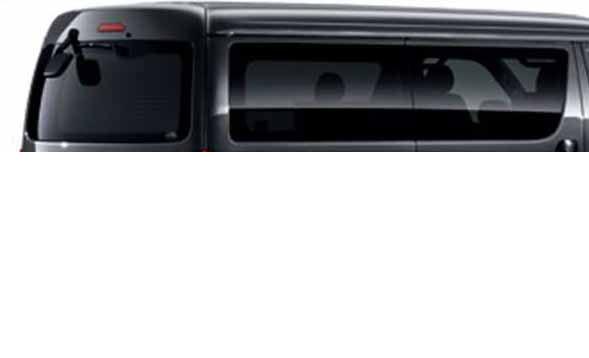 『ハイエース』 純正 KDH201V IR(赤外線)カットフィルム リヤサイド・バックガラス(スモーク) パーツ トヨタ純正部品 日除け カーフィルム hiace オプション アクセサリー 用品