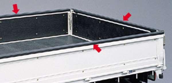 『ダイナ標準キャブ』 純正 XZU554 ゲートプロテクター (1) パーツ トヨタ純正部品 荷台モール アオリ dyna オプション アクセサリー 用品