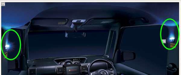 『ウェイク』 純正 LA700S LA710S センターピラーイルミネーション(2個セット) パーツ ダイハツ純正部品 照明 ライト オプション アクセサリー 用品
