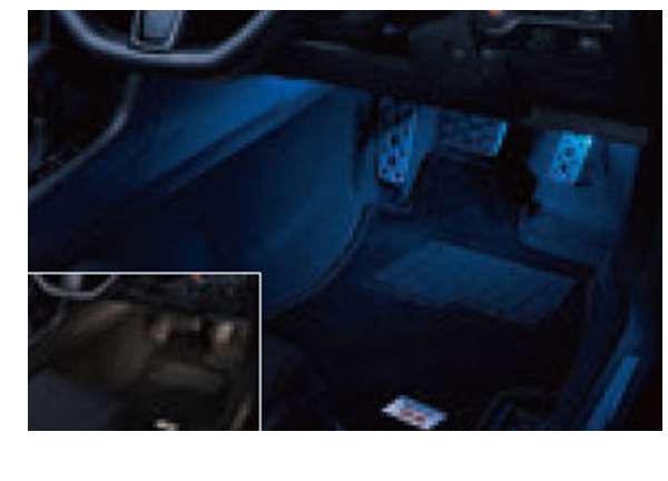 『WRX S4』 純正 VAG フットランプ(ブルー/アンバー・前後席4ヶ所) パーツ スバル純正部品 フットライト オプション アクセサリー 用品