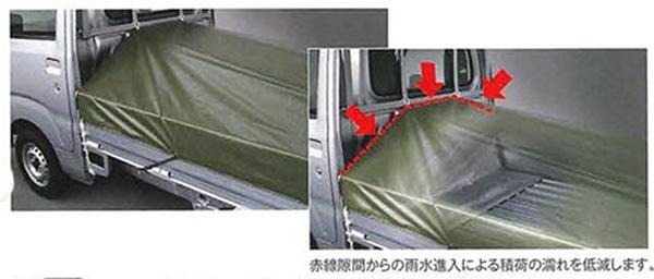 『ハイゼットトラック』 純正 S500P S510P スロ-プ式平シート(ロングタイプ) パーツ ダイハツ純正部品 荷台シート オプション アクセサリー 用品