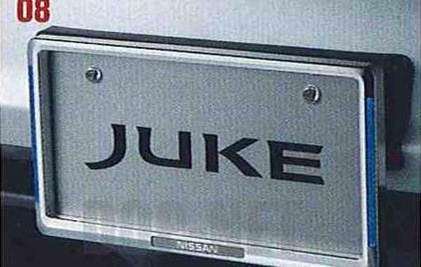 『ジューク』 純正 YF15 イルミネーション付ナンバープレートリムセット(フロント:イルミネーション付、リヤ:クロームメッキ) ※リヤ封印注意 パーツ 日産純正部品 ナンバーフレーム ナンバーリム ナンバー枠 JUKE オプション アクセサリー 用品