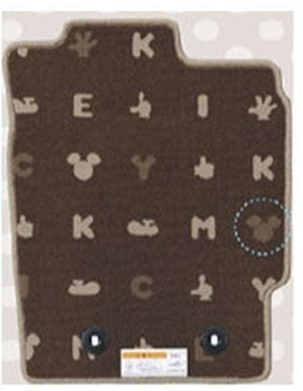 『ミラ トコット』 純正 LA550S LA560S カーペットマット(ミッキー) パーツ ダイハツ純正部品 フロアカーペット カーマット カーペットマット オプション アクセサリー 用品