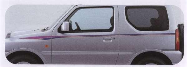 『ジムニー』 純正 JB23W ストライプテープ(コメット) 左右セット パーツ スズキ純正部品 ステッカー シール ワンポイント jimny オプション アクセサリー 用品