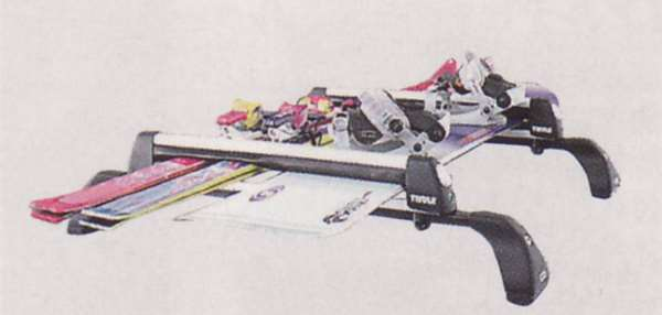 『プレマシー』 純正 CREW CR3W スキー/スノーボードアタッチメント(THULE製・Aタイプ) アタッチメントのみ本体は別売 パーツ マツダ純正部品 キャリア別売りキャリア別売り PREMACY オプション アクセサリー 用品