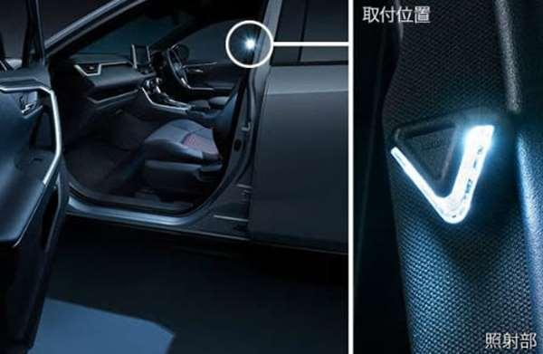 『RAV4 PHV』 純正 AXAP54 MODELLISTA SELECTION LEDスマートフットライト ※フロント左右2個セット パーツ トヨタ純正部品 オプション アクセサリー 用品
