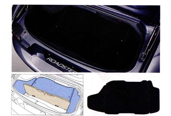 『ロードスター』 純正 NCEC ラゲッジルームマット 1台分 パーツ マツダ純正部品 ラゲージマット ラゲッジマット 荷室マット Roadster オプション アクセサリー 用品