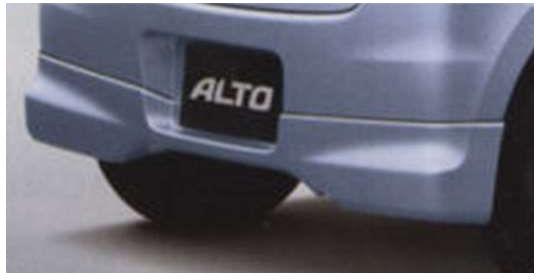 『アルト』 純正 HA25S HA35S リヤアンダースポイラー パーツ スズキ純正部品 リアスポイラー カスタム エアロ alto オプション アクセサリー 用品