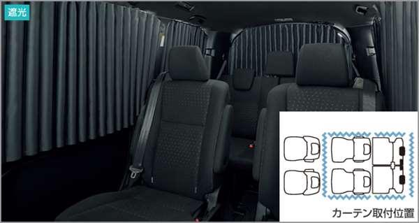 『ノア』 純正 ZWR80W ZWR80G ZRR80W ZRR80G ZRR85W ZRR85G 室内カーテン(遮光機能付) パーツ トヨタ純正部品 目隠し 日除け スモーク オプション アクセサリー 用品