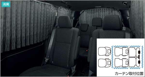 『ノア』 純正 ZWR80W ZWR80G ZRR80W ZRR80G ZRR85W ZRR85G 室内カーテン(プリーツタイプ) パーツ トヨタ純正部品 目隠し 日除け スモーク オプション アクセサリー 用品