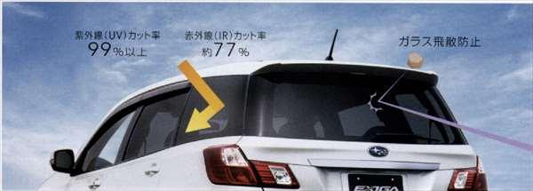 Pure Ya5 Yam Ir Cut Screen Kit Rear Door Quarter Gate Parts Subaru Genuine Smoke Privacy Blindfold Exiga Option Accessories Article