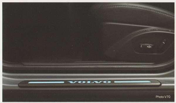 V70 XC70 S80 パーツ イルミネーション・スカッフプレート リア・スカッフプレート(S80用) ボルボ純正部品 BB6304TW BB6304TXC AB6304T オプション アクセサリー 用品 純正