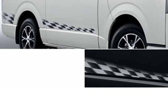 『レジアスエース』 純正 KDH201V ストライプテープ タイプ1 パーツ トヨタ純正部品 ステッカー シール ワンポイント regiusace オプション アクセサリー 用品