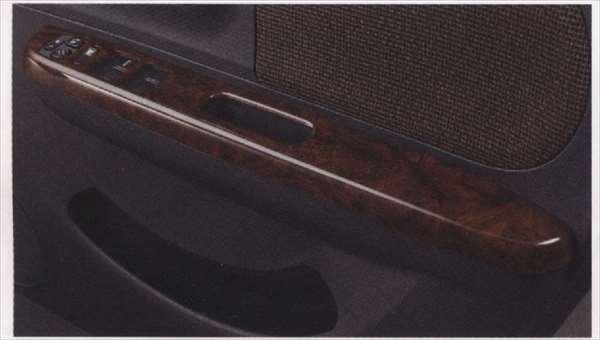 『ラパン』 純正 HE22S パワーウインドースイッチベゼル ウッド調 1台分(フロント・リヤ)4枚セット パーツ スズキ純正部品 ウッド 木目 内装パネル パワーウィンドウスイッチパネル lapin オプション アクセサリー 用品
