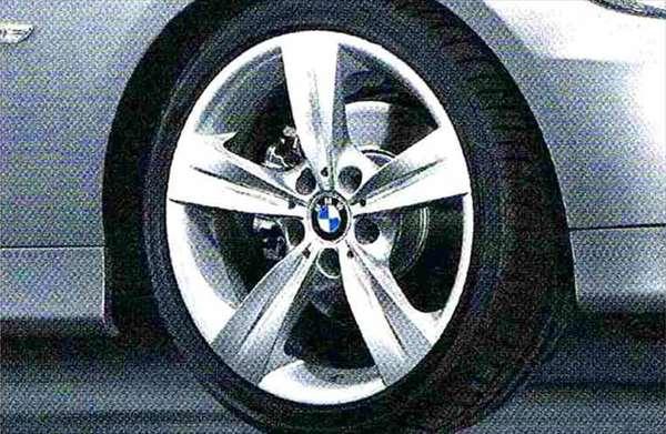 3 パーツ スタースポーク・スタイリング287 ホイール単体8.5J×18(リヤ) BMW純正部品 LBA ABA オプション アクセサリー 用品 純正 送料無料