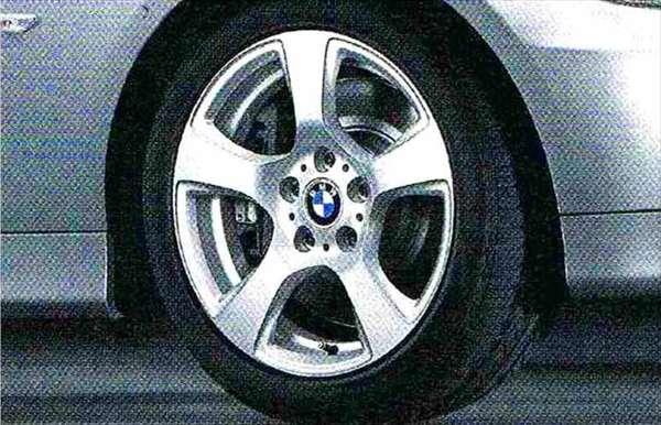 3 パーツ スタースポーク・スタイリング157 ホイール単体8J×17(フロント/リヤ共用) BMW純正部品 LBA ABA オプション アクセサリー 用品 純正 送料無料