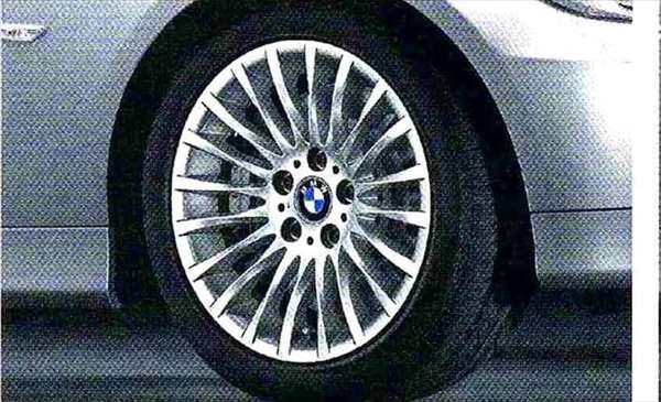 3 パーツ ラジアルスポーク・スタイリング187 ホイール単体8J×17(フロント/リヤ共用) BMW純正部品 LBA ABA オプション アクセサリー 用品 純正 送料無料