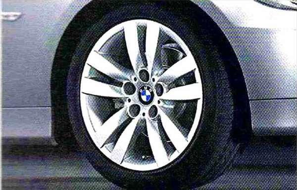 3 パーツ ダブルスポーク・スタイリング161 ホイール単体8.5J×17(リヤ) BMW純正部品 LBA ABA オプション アクセサリー 用品 純正 送料無料