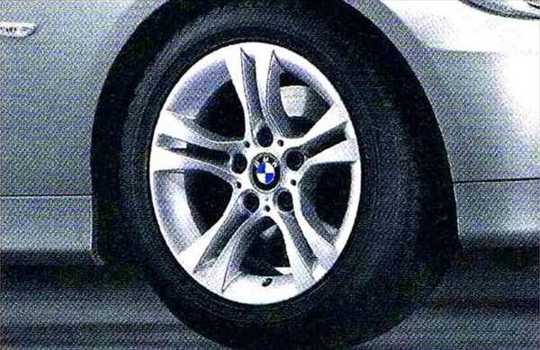 3 パーツ ダブルスポーク・スタイリング268 ホイール単体7J×16(フロント/リヤ共用) BMW純正部品 LBA ABA オプション アクセサリー 用品 純正 送料無料