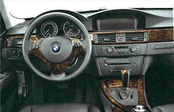 """3 パーツ ウッド・トリム""""バール・ウォールナット"""" ダッシュボードのみ(~2008.9)左ハンドル車右側用 BMW純正部品 LBA ABA オプション アクセサリー 用品 純正 ウッド"""