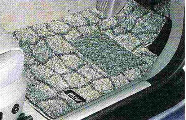 """3 パーツ フロア・マット・セット""""ベルジャン"""" グレー BMW純正部品 LBA ABA オプション アクセサリー 用品 純正 マット"""