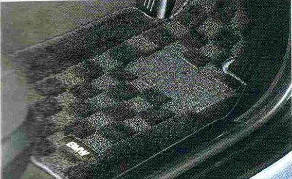 """3 パーツ フロア・マット・セット""""シャギー"""" ブラック BMW純正部品 LBA ABA オプション アクセサリー 用品 純正 マット"""