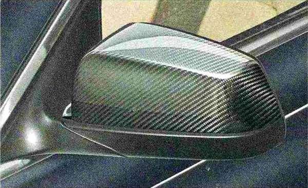 7 パーツ ミラー・カバー・カーボン BMW純正部品 YA30 YE30 YA44 YG60 YE44 オプション アクセサリー 用品 純正 ミラー