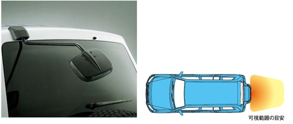 『パジェロ』 純正 V98W V93W リヤアンダーミラー パーツ 三菱純正部品 オプション アクセサリー 用品