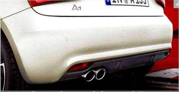 A1 パーツ リヤディフューザー アウディ純正部品 8XCAX オプション アクセサリー 用品 純正 送料無料
