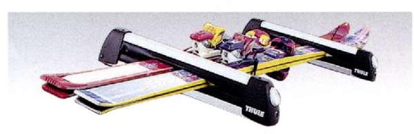 『アクセラ』 純正 BL5FW BLEFW BLEAW スキー・スノーホードアタッチメント(THULE製・Bタイプ) パーツ マツダ純正部品 キャリア別売り axela オプション アクセサリー 用品