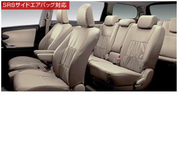 『ウィッシュ』 純正 ZGE22 革調シートカバー ソファータイプ1・2列シートのみ パーツ トヨタ純正部品 座席カバー 汚れ シート保護 wish オプション アクセサリー 用品