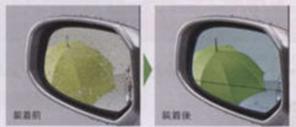 『フリードスパイク』 純正 GB3 GB4 GP3 アクアクリーンミラー(左右セット) パーツ ホンダ純正部品 水滴 視界 ブルー FREED オプション アクセサリー 用品