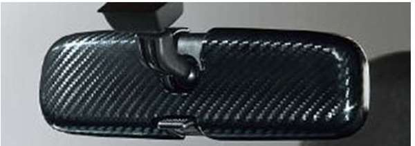 『コペン』 純正 LA400K インナーミラーカバー(カーボン) パーツ ダイハツ純正部品 ルームミラールームミラーカバー copen オプション アクセサリー 用品