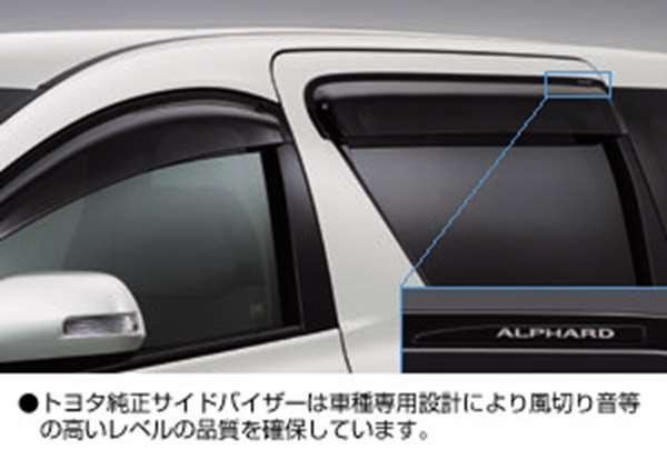 纯正的GGH20 ANH20旁边面罩RV宽大的零件丰田纯正零部件门面罩雨避的雨避的alphard选项配饰用品