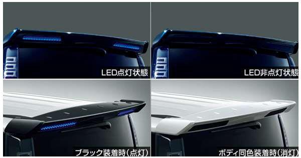 『ヴォクシー』 純正 ZWR80W ZWR80G ZRR80W ZRR80G ZRR80G ZRR85G リヤスポイラー(LED付)ブラック (除くHYBRID ZS、ZS用) パーツ トヨタ純正部品 ルーフスポイラー リアスポイラー オプション アクセサリー 用品