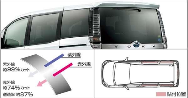 『ヴォクシー』 純正 ZWR80W ZWR80G ZRR80W ZRR80G ZRR80G ZRR85G IR(赤外線)カットフィルム(リヤサイド・バックガラス) パーツ トヨタ純正部品 日除け カーフィルム オプション アクセサリー 用品