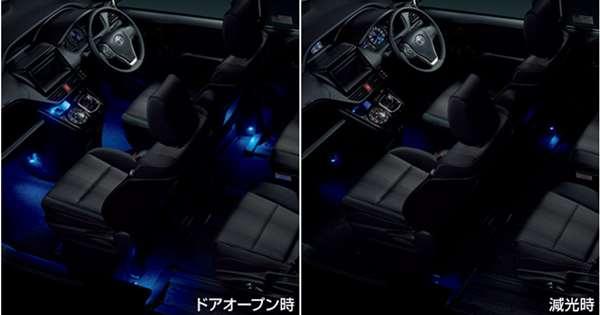 『ヴォクシー』 純正 ZWR80W ZWR80G ZRR80W ZRR80G ZRR80G ZRR85G インテリアイルミネーション(2モードタイプ・5灯) ※スイッチキットは別売 パーツ トヨタ純正部品 照明 明かり ライト オプション アクセサリー 用品