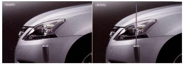 『ブルーバード シルフィー』 純正 TB17 電動格納式ネオンコントロール フルオートタイプ パーツ 日産純正部品 コーナーポール フェンダーランプ フェンダーライト SYLPHY オプション アクセサリー 用品
