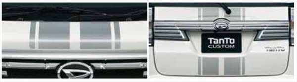 『タント』 純正 LA600S LA610S フード&バックドアストライプ パーツ ダイハツ純正部品 メッキ tanto オプション アクセサリー 用品