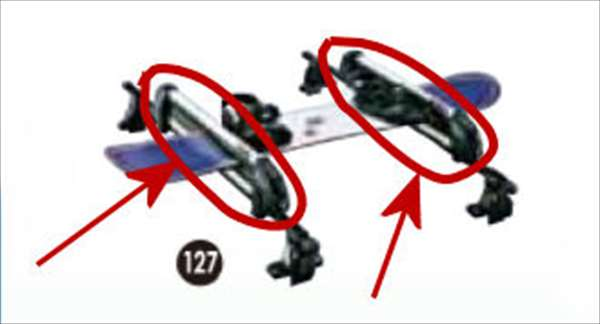 『タント』 純正 LA600S LA610S スキー&スノーボードアタッチメント(平積み)のみ ※システムベースは別売 パーツ ダイハツ純正部品 キャリア別売り tanto オプション アクセサリー 用品