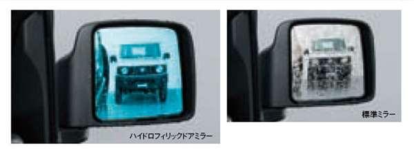 『ジムニー』 純正 JB64W ハイドロフィリックドアミラー ヒーテッドドアミラー付車用 左右セット パーツ スズキ純正部品 水滴 視界 ブルー オプション アクセサリー 用品