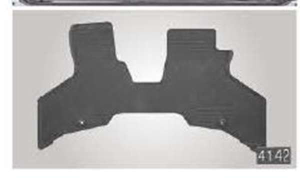 『アトレーワゴン』 純正 S321G S331G ラバーマット(1台分)(フロント1枚・リヤ1枚) パーツ ダイハツ純正部品 ゴムマット フロアマット オプション アクセサリー 用品