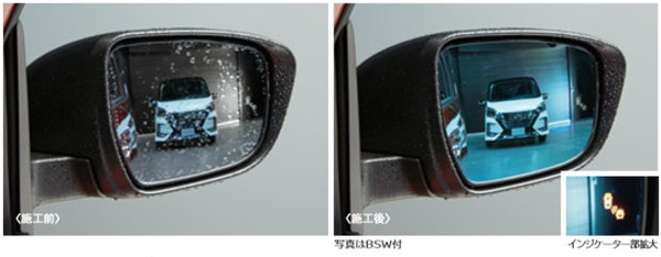 『セレナ』 純正 HC27 HFC27 GC27 GFC27 チタンクリアブルードアミラー パーツ 日産純正部品 オプション アクセサリー 用品