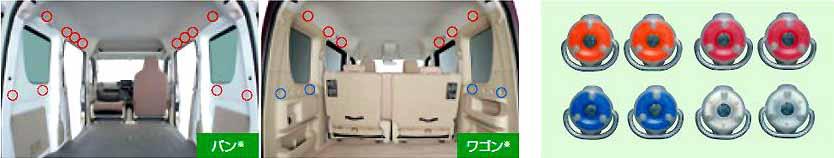 正牌的DR17V实用程序染色吊钩2种安排零件日产纯正零部件选项配饰用品