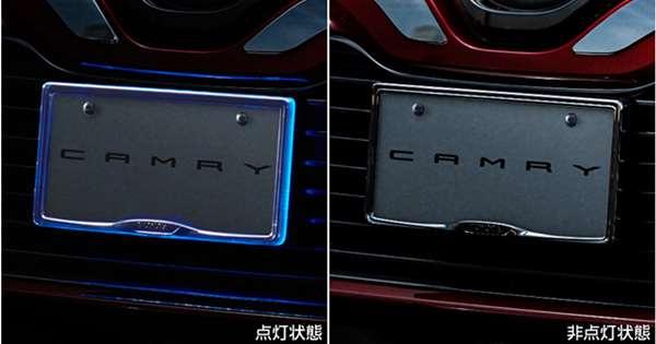 『カムリ』 純正 AXVH70 ナンバーフレームイルミネーション パーツ トヨタ純正部品 メッキ ナンバープレートリム ナンバーリム ナンバー枠 オプション アクセサリー 用品